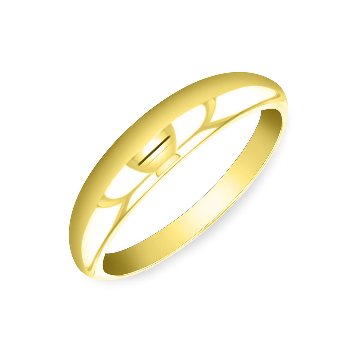 Soleil Collection Plain Dome Ring   9K Yellow Gold