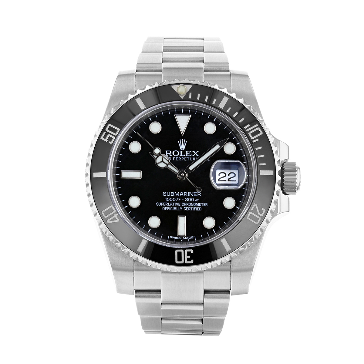 Rolex Submariner 40MM Black Date Dial Stainless Steel | 116610LN - 2014