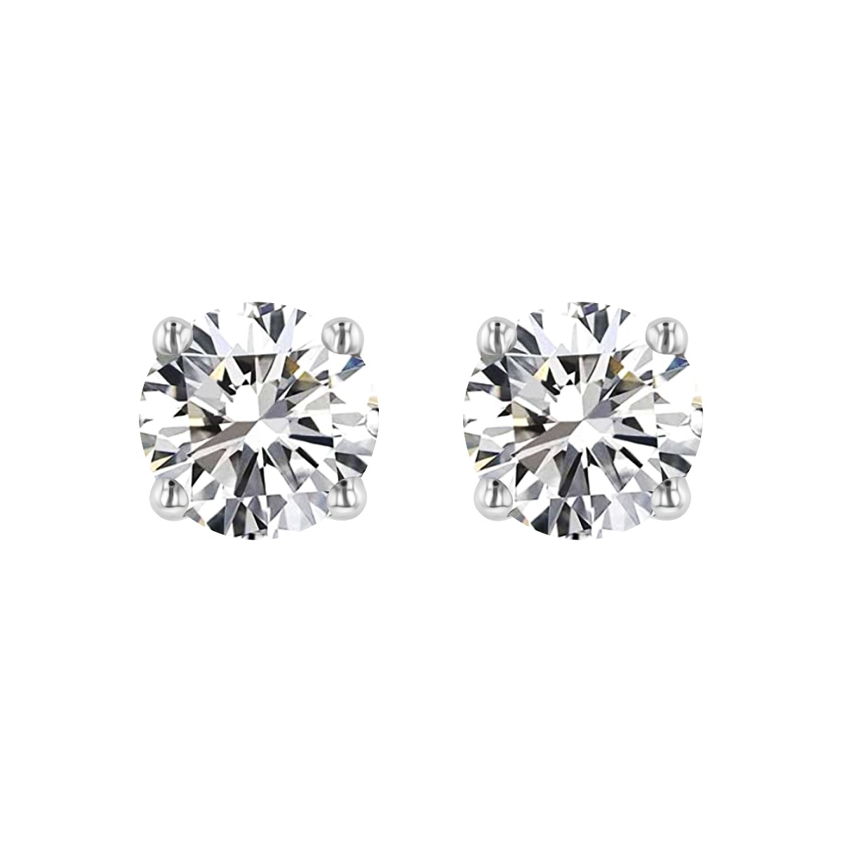 Radiance Collection 1.43ct tw. Round Diamond Stud Earrings | 18K White Gold