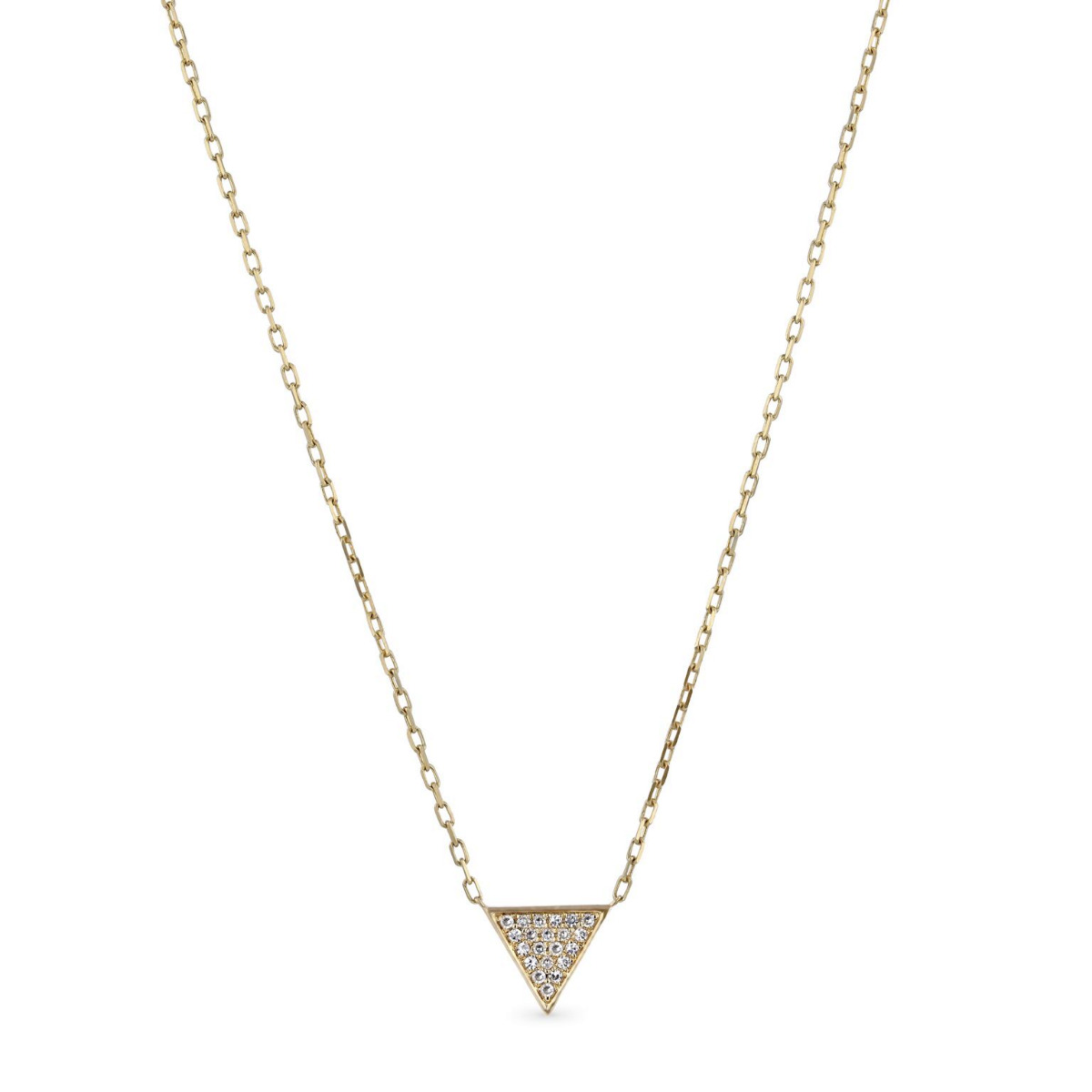 Geometric Collection Diamond & Yellow Gold Triangle Shape Necklace