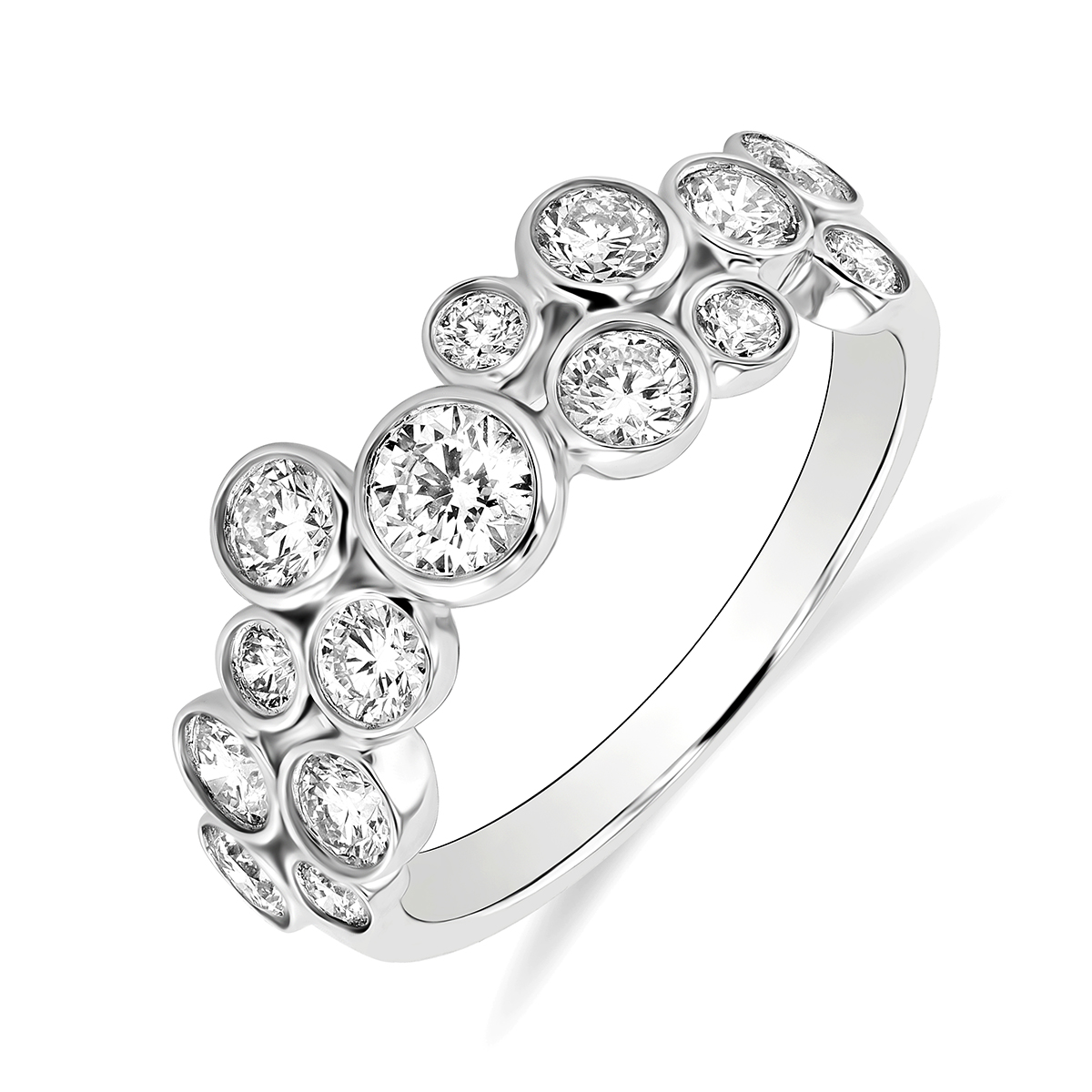 Radiance Collection 1.02ct Diamond Drops White Gold Ring