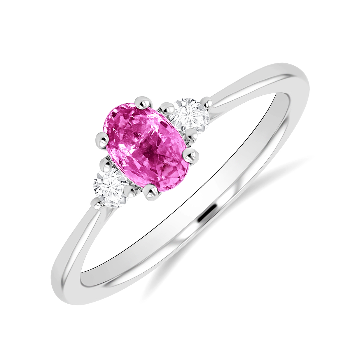 Rosa Mer Collection 0.66ct Pink Sapphire & Diamond Ring