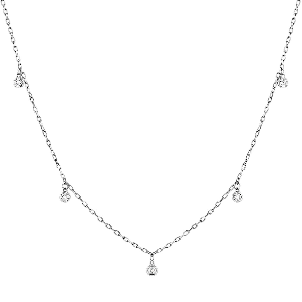 Radiance Collection Diamond Drop & White Gold Necklace