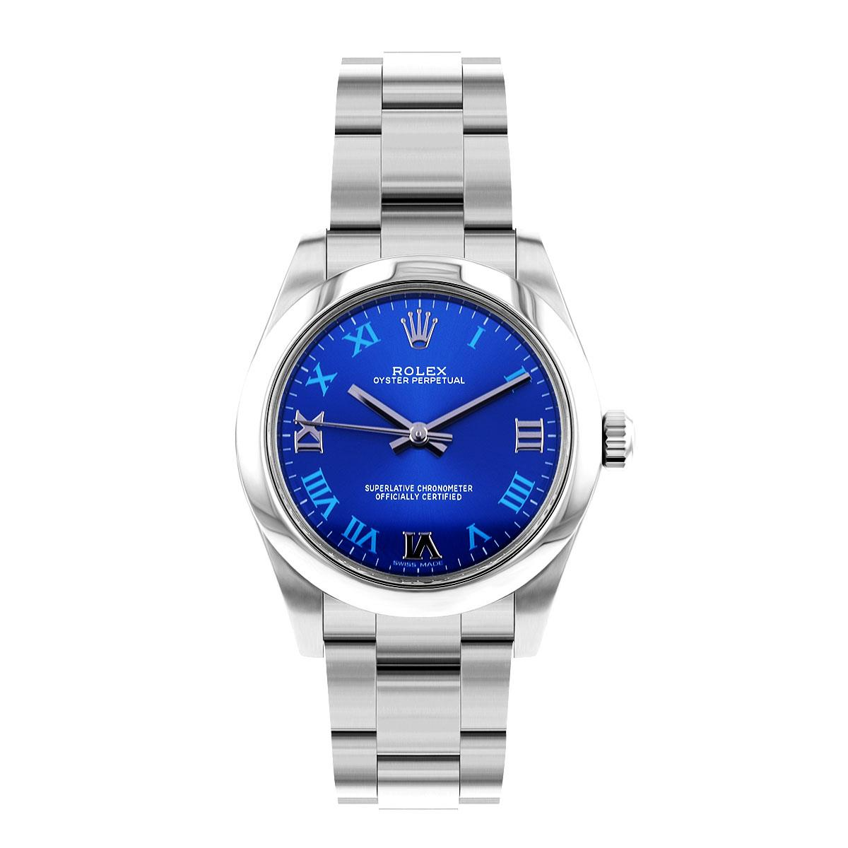 Rolex Oyster Perpetual 31MM Non Date Blue Roman Numeral Dial | 177200 - 2015