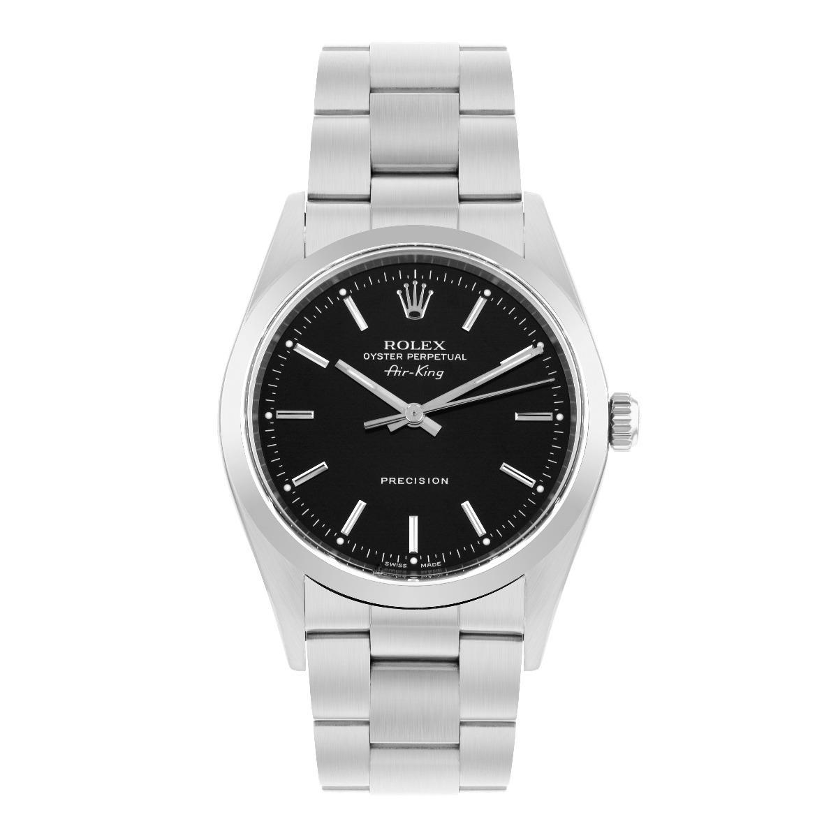 Rolex Air-King 34MM Black Dial Oyster Steel | 14000 - 2000