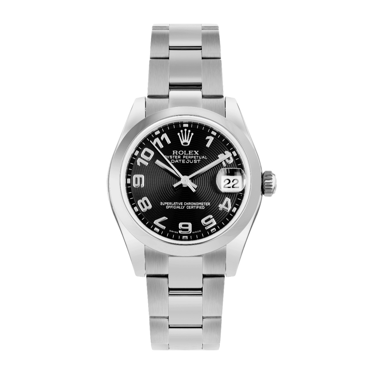 Rolex Datejust 31MM Black Concentric Circle Arabic Oyster Steel | 178240 - 2007