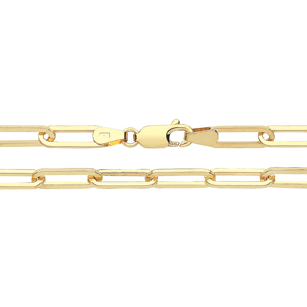 Soleil Collection Paperclip Link Bracelet | 9K Yellow Gold