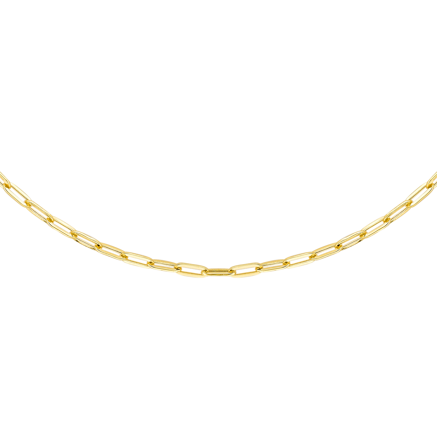 Soleil Collection Paperclip Link Necklace   9K Yellow Gold