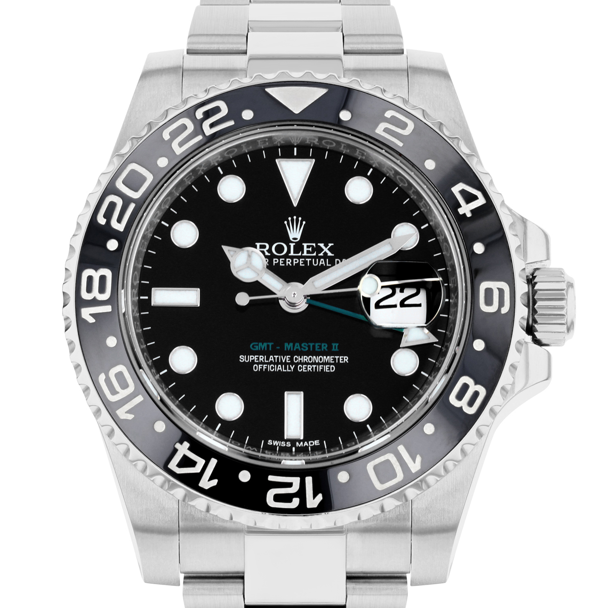 Rolex GMT Master II 40MM Black Date Stainless Steel | 116710 - 2014