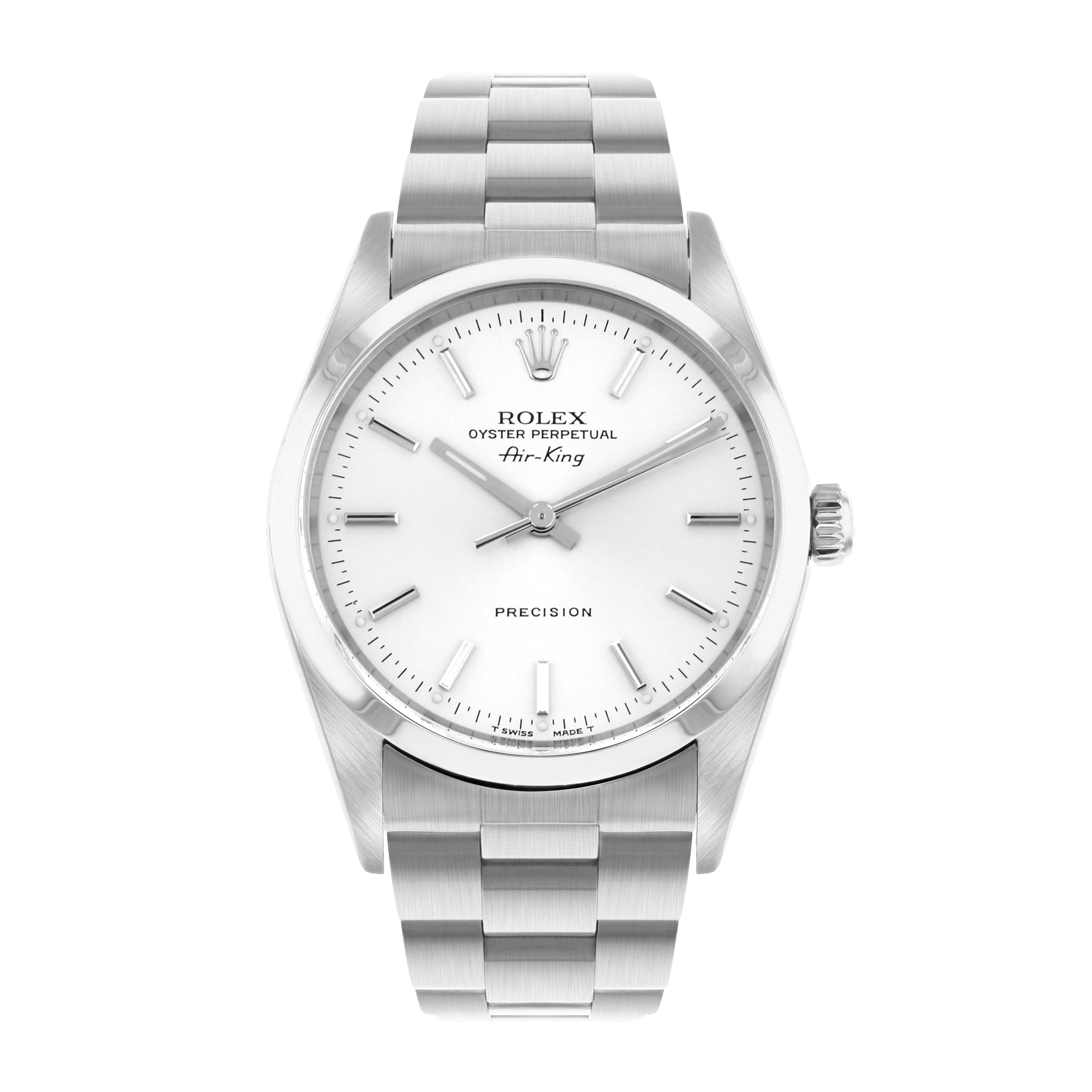 Rolex Air-King 34MM Silver Baton Stainless Steel | 14000 - 1998