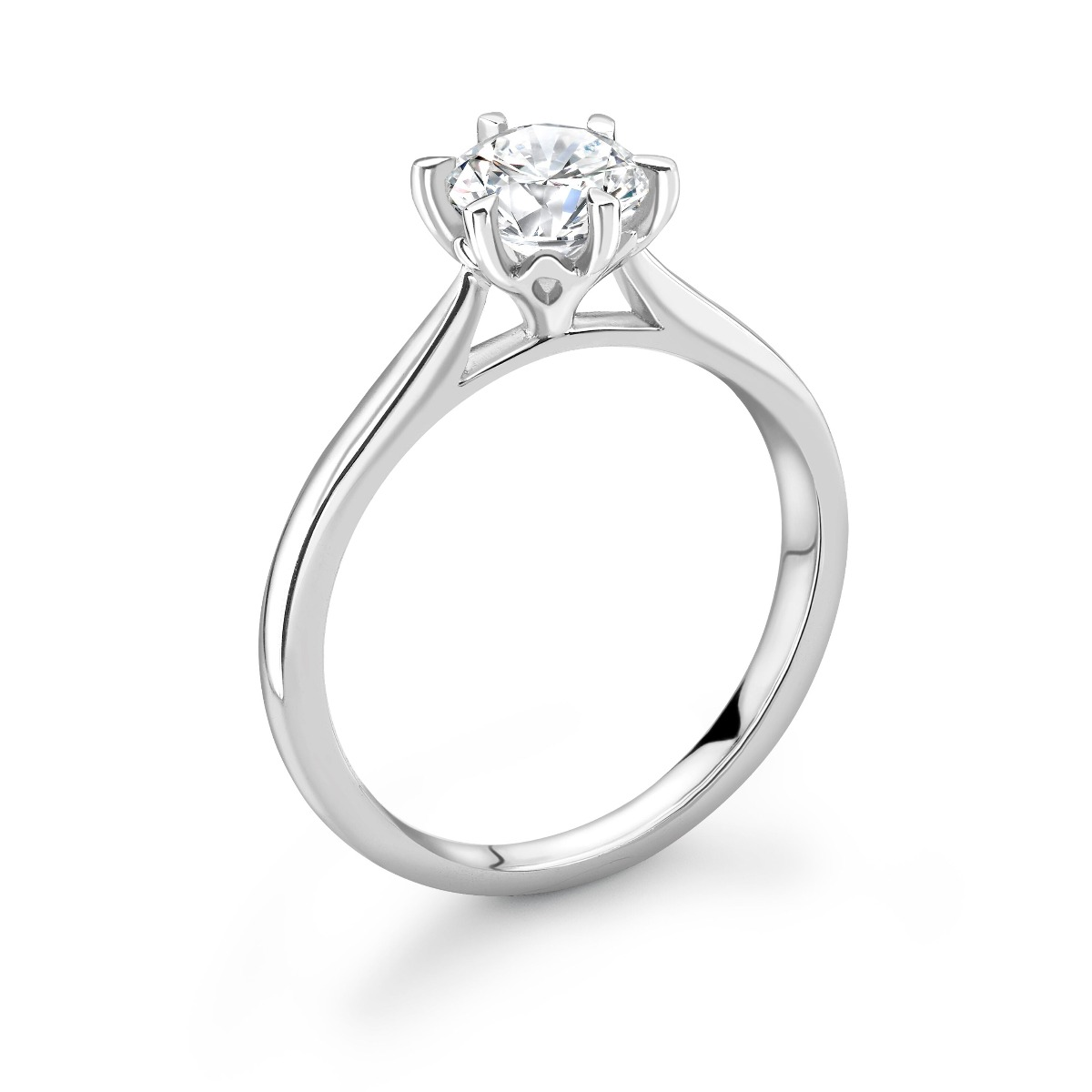 0.18ct Olivia Solitaire | Diamond Solitaire Engagement Ring | 18K White Gold