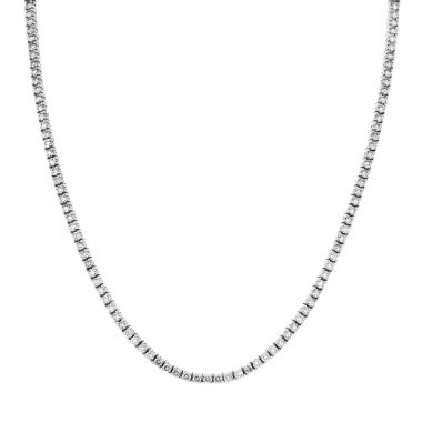 New York Collection 2.28ct Diamond Tennis Necklace | 9K White Gold