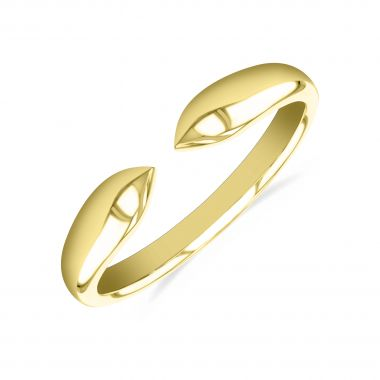 New York Collection Gold Claw Stacking Ring   9K Yellow Gold