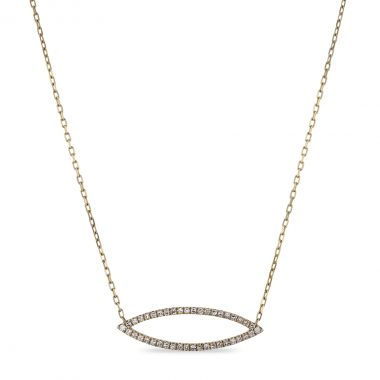 Geometric Collection Diamond Marquise Shape Necklace