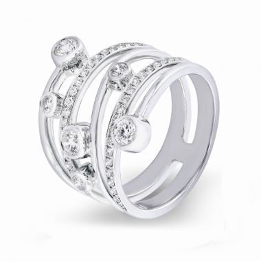 Radiance Collection Diamond Drops White Gold Ring