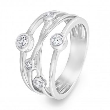 Radiance Collection 0.40ct Diamond Drops White Gold Ring
