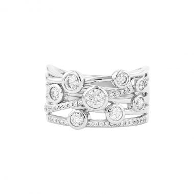 Radiance Collection 0.80ct Diamond Drops White Gold Ring