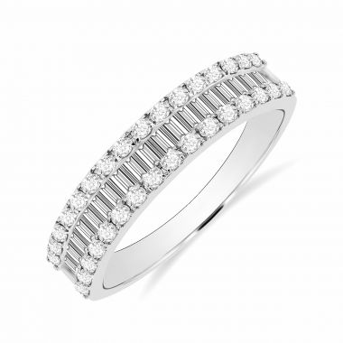 Radiance Collection 0.49ct Diamond & White Gold Half Eternity Ring