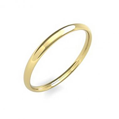 Soleil Collection 2mm Band   9K Yellow Gold