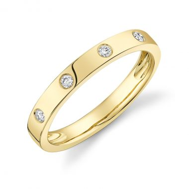 New York Collection Inlay Diamond Ring | 14K Yellow Gold
