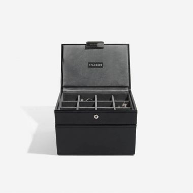 Stackers Black Cufflink and Watch Box
