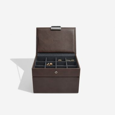 Stackers Brown Mini Watch and Cufflink Box