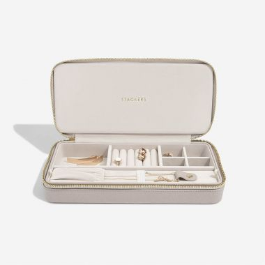 Stackers Taupe Sleek Necklace Zipped Jewellery Box