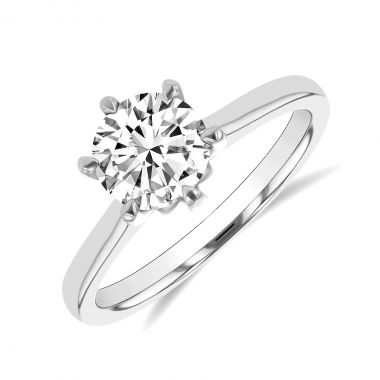 1.60ct Melody Vintage Old Cut Diamond Solitaire Engagement Ring   Platinum