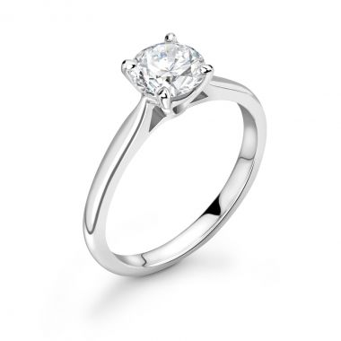 0.50ct Evelyn Solitaire | Diamond Solitaire Engagement Ring | 18K White Gold