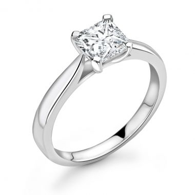 0.50ct Abigail Solitaire | Diamond Cushion Solitaire Engagement Ring | 18K White Gold