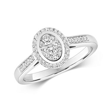 Ethereal 0.33ct Oval Halo | 9K White Gold