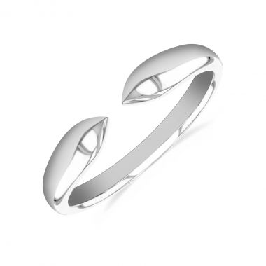 New York Collection Gold Claw Stacking Ring   9K White Gold