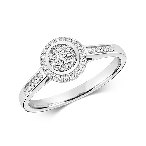 Ethereal 0.25ct Round Halo   9K White Gold