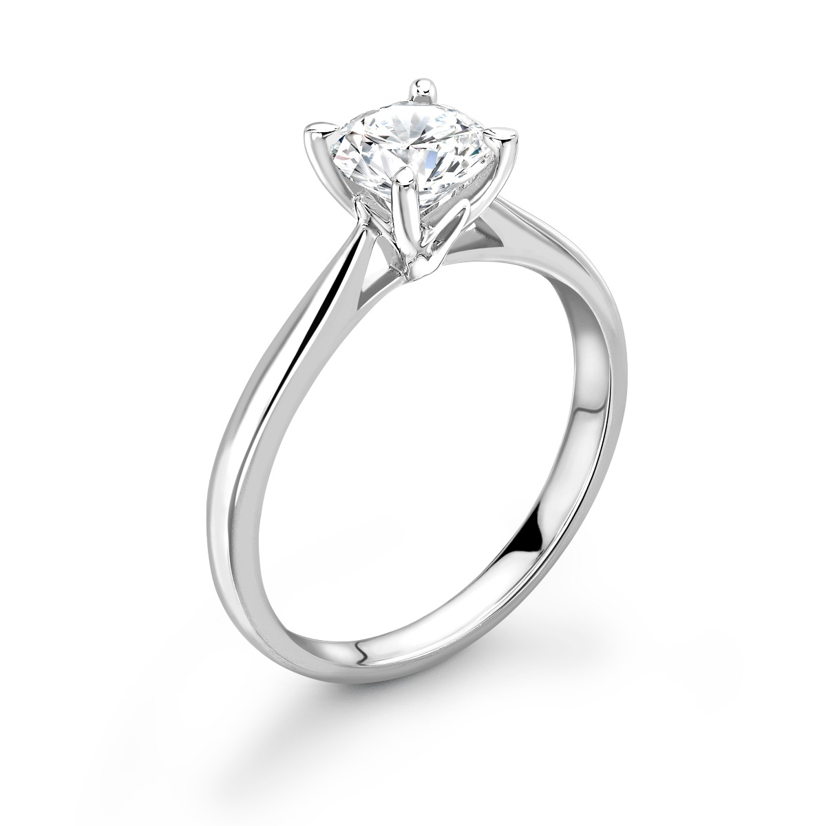 0.50ct Isabella Solitaire   Diamond Round Solitaire Engagement Ring   18K White Gold